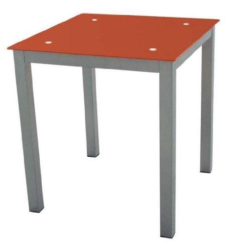 Mesa cocina Refez cristal templado 6mm color rojo 74x70x70 cm