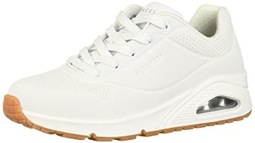 Skechers Uno- Stand On Air, Zapatillas Mujer, Blanco White Wht, 38 EU