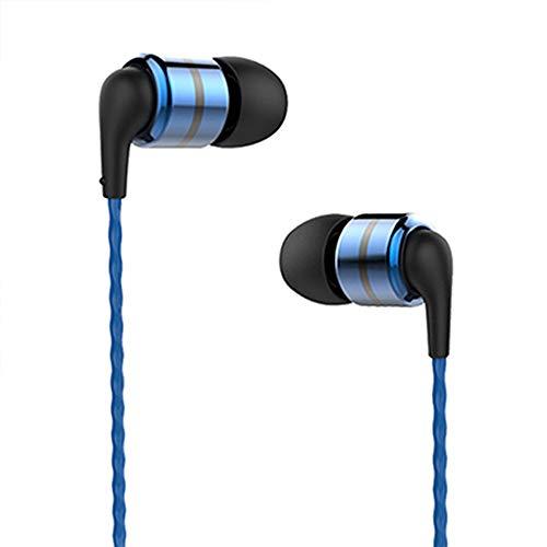 SoundMAGIC E80 Auriculares In Ear, Auriculares para teléfonos Inteligentes con Cable,Auriculares Estéreo con Aislamiento de Ruido para, Todos los Dispositivo de Interfaz de 3,5mm,Azul