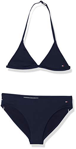 Tommy Hilfiger Mädchen Triangle Bikini-Set, Blau (Pitch Blue), 10-12 Jahre