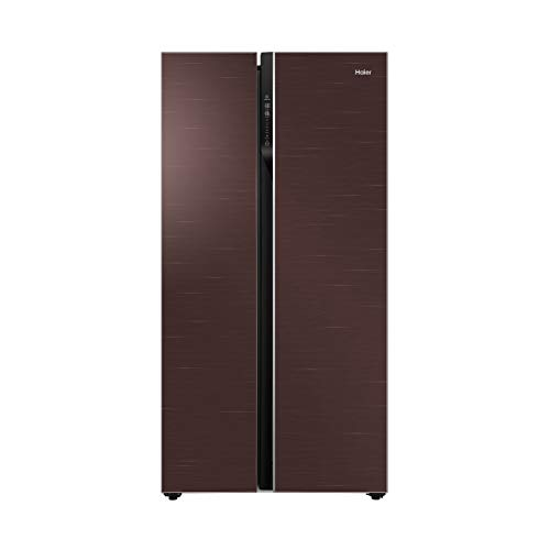 Haier 570 L Inverter Frost-Free Side-by-Side Refrigerator with Twin Inverter Technology (HRF-622CG, Chocolate Glass)