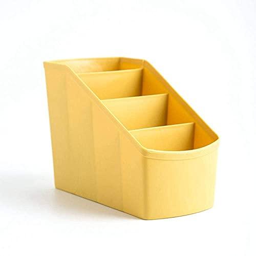 Estante de Archivos de Oficina Cosméticos Papelería Gadget Caja de Almacenamiento Almacenamiento de Escritorio de Varias Partes Sala de Estar Dormitorio Caja de Acabado-Amarillo