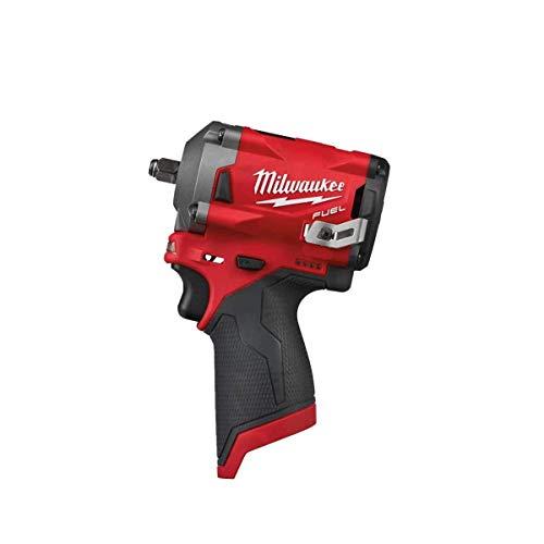 Milwaukee M12FIW38-0 4933464612 Schlagschrauber 12 V Li Ion3/8 CUADRADILLO-M12FIW38-0, Rot und schwarz