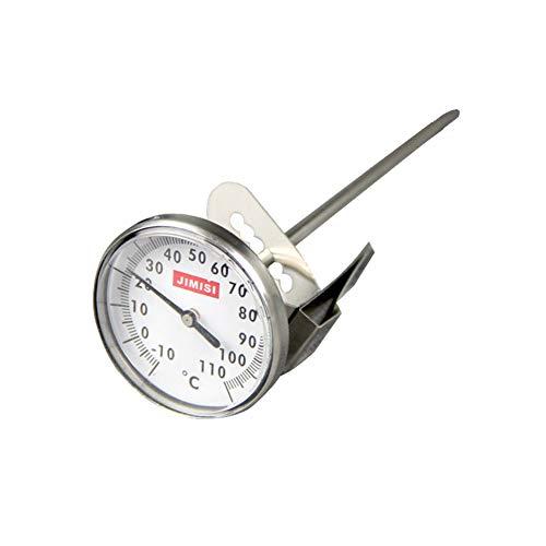 Edelstahl-Kaffee-Temperatur-Nadel zum Anklipsen, kann aufgehängt werden, für Milch, Tee, Milch, Seifenblasen, Lebensmitteltemperatur-Stift, 1 Packung