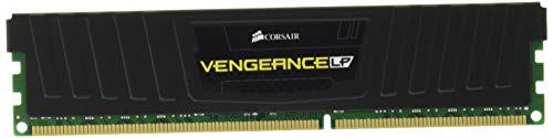 Corsair CML32GX3M4A1600C10 Vengeance Low Profile 32GB (4x8GB) DDR3 1600Mhz CL10 XMP Performance Desktop Memory Schwarz