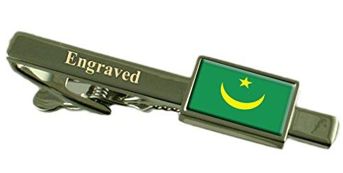 Flagge Mauretanien graviert personalisierten Krawattenclip