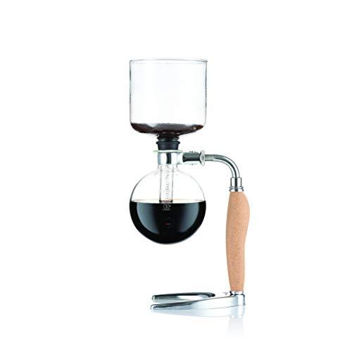 Bodum 11863-109 MOCCA Vakuum-Kaffeebereiter, 4 Tassen, 0.5 L, Kork, Edelstahl, Borosilicatglas, Silikon, Polycarbonate, PA6, Polypropylen, Zinklegierung
