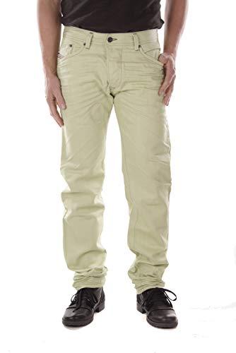 Diesel Darron 008QU Herren Jeans Hose Regular Slim (W32/L32, Mintgrün)