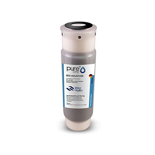 PureOne BEX-AQUAPURE. 100% Aktivkohle Granulat mit Sediment Vorfilter. Feinheiten nach Auswahl 1µ u. 5µ - Filterkerze für Brauchwasser und Trinkwasser. Druckstabiles Gehäuse