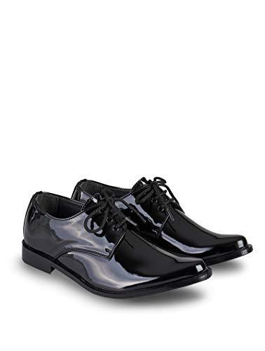 V.C. Festliche Jungen Anzug Schuhe Kommunionschuhe Lackschuhe schwarz 37