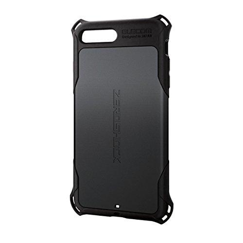エレコムiPhone8Plusケースカバー衝撃吸収【落下時の衝撃から本体を守る】ZEROSHOCK衝撃吸収iPhone7Plus対応ブラックPM-A17LZEROBK