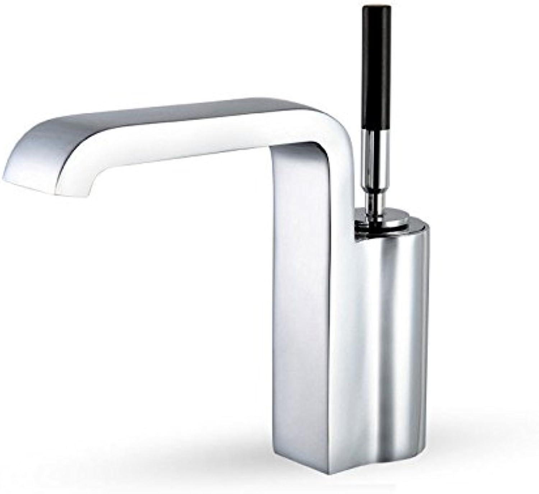 Fine copper faucet hot and cold rocker redary valve core basin