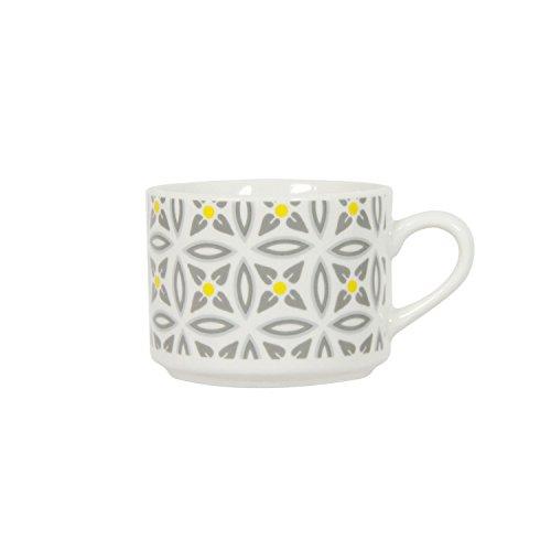 Novastyl Tasse en Porcelaine Aristo - Blanc décoré