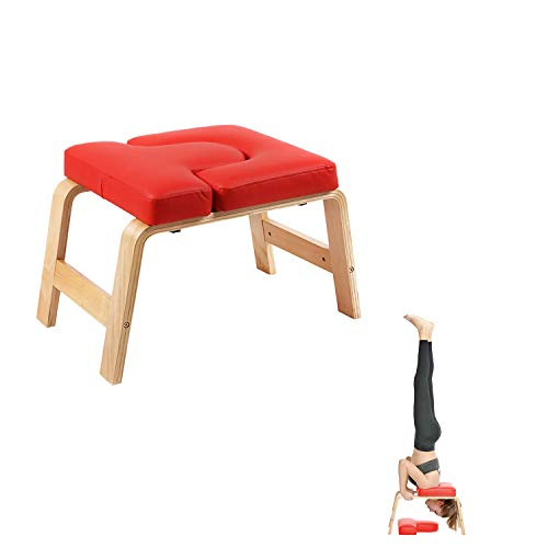 Fantastic Prices! Juup Wooden Headstand Bench Yoga Chair Prop Upside Down Chair for Feet Up and Bala...