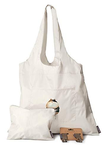 Einkaufstasche mit Hamster | 3er Set - Tasche + Kinderwagen Haken + Kosmetiktasche | Perfekt auch als Schwimmbadtasche oder Kinderwagen Organizer | Wasserdicht | Shopper aus Nylon - faltbar