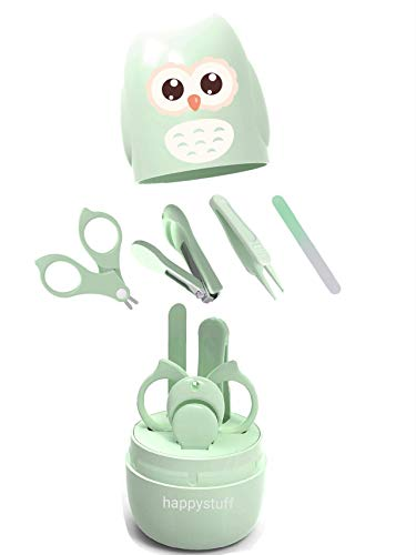Baby Nail Kit, 4-in-1 Baby Nail Care Set with Cute Case,...