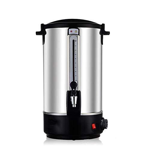 Elektrisch Heißwasserspender Edelstahl, Thermoskanne Tee, Kommerzielle Heißgetränkespender Glühweinkocher Glühweinautomat Wasserkocher Thermobehälterfür Kaffee oder Tee