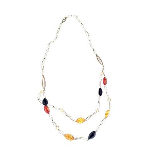 Creazioni Oro Collar en Plata 925 con Ámbar Marquesa Multicolor N1552-1