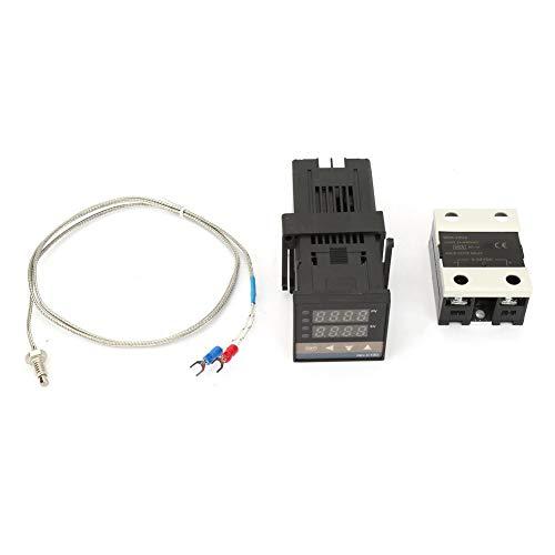 0-1300 Controller Controlador de Temperatura 0-1300 Kits AC 110V-240V Alarma PID LED Controlador Digital de Temperatura Digital Con...