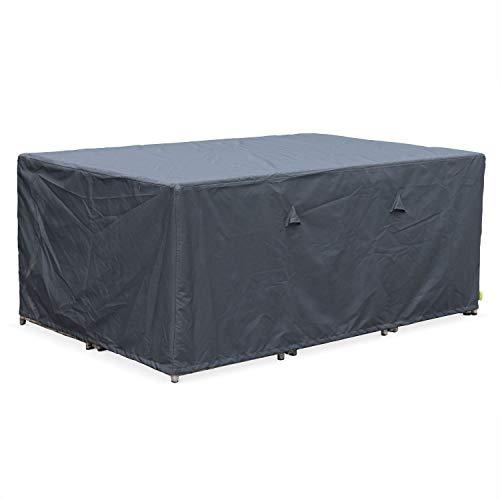 Housse de Protection 172x112cm Gris foncé - Bâche rectangulaire en Polyester Enduit PA pour Tables de Jardin Vasto 10, Vabo 10 et Cubo 10