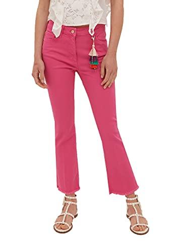 Motivi: Pantaloni Cropped con pendaglio Nappa Rosa 38