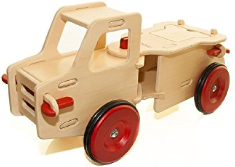 MOOVER MOOV-n-008 Junior Truck-lenkbarer Holz Kinderrutscher, Natur