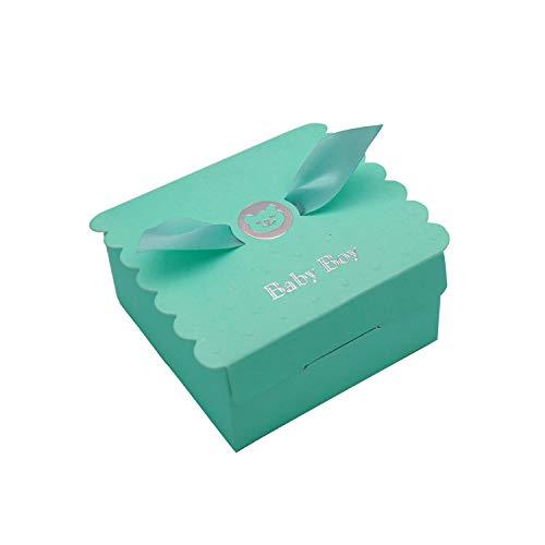 Floratek 30 STÜCKE Baby Dusche Gefälligkeiten Nette Baby Mädchen Baby Engel Flügel Entworfen Schokolade Verpackung Box Pralinenschachtel Geschenkbox für Kinder Geburtstag Baby Dusche Gäste Hochzeit Li