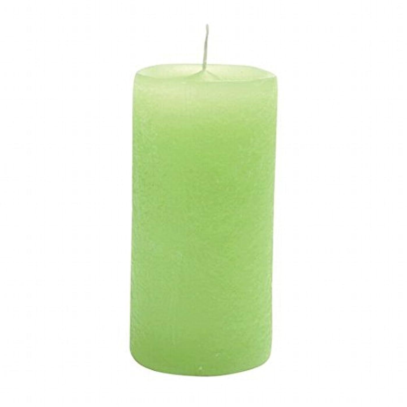 富がっかりした精巧なヤンキーキャンドル(YANKEE CANDLE) ラスティクピラー50×100 「 ライトグリーン 」