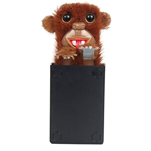 DENGC Innovative Sneekums Pet Pranksters Spielzeug Tricky Funny Monkey Fur Kunststoff Pet Surprise Toys Pop Up Parodie AFFE für Kinder-Braun & Schwarz
