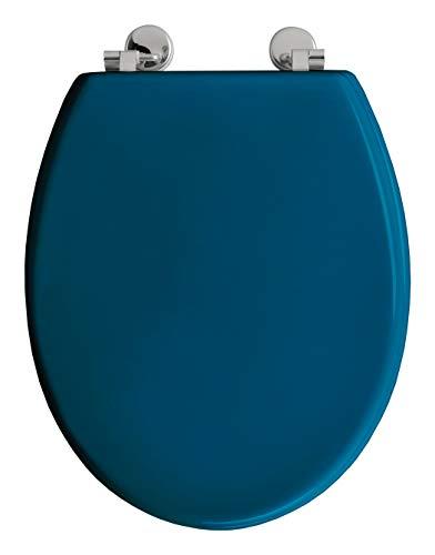 Allibert 1680111 - Sedile WC Boliva con cerniere in acciaio inox, colore: Blu