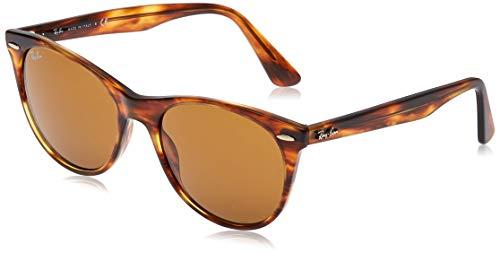Ray-Ban 0RB2185 Gafas de sol, Striped Havana, 55 Unisex