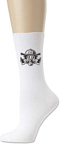 HNJZ-GS Herren Damen Feuerwehr Gasmaske Classics Cotton Athletic Crew Socks