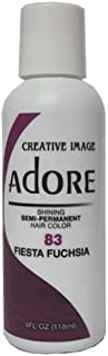 Adore Semi-Permanent Haircolor #083 Fiesta Fuchsia 4 Ounce (118ml)