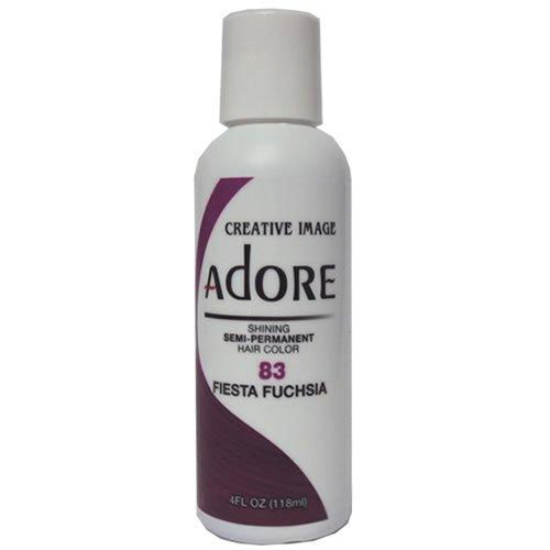 Adore Semi-Permanent Haircolor #083 Fiesta Fuchsia 4 Ounce (118ml)