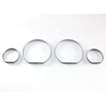 GHXSport Chrome Dashboard Gauge Ring Set for BMW E39