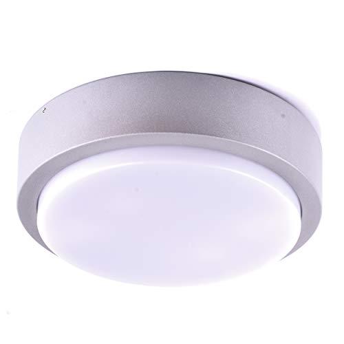 HOCHWERTIGE Massive Außenleuchte Wandlampe Wandleuchte Außenwandleuchte IP54 Grau Alu-Druckguss Decken-Lampen Beleuchtung Flur-Leuchte 1420 (Rund)