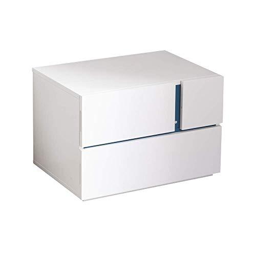 Amazon Brand -  Movian 2 Drawer Night Stand, 60 x 41.5 x 41 cm, White