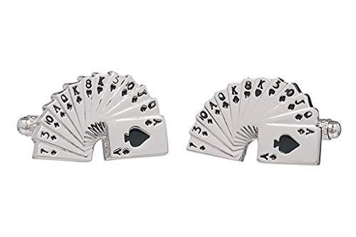 Spielkarten, Karten-Casino Manschettenknöpfe Onyx Art Manschettenknöpfe, In Geschenkbox