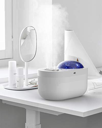 Arcwares Cool Mist humidificador dura hasta 10 horas, funcionamiento silencioso para guardería o dormitorio (blanco)
