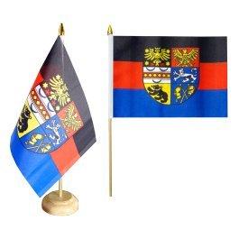 Flaggenfritze® Tischflagge Ostfriesland mit lackiertem Holzsockel