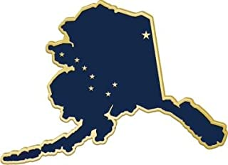 Alaska State Flag Pins - Shape of Alaska Lapel Pins Prime