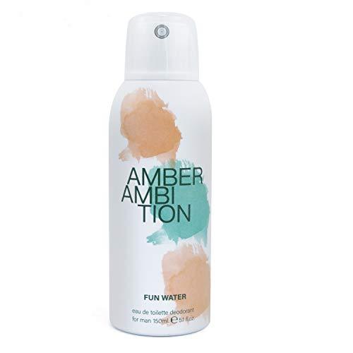 Fun Water - Amber Ambition Déodorant en vaporisateur pour homme, 150 ml