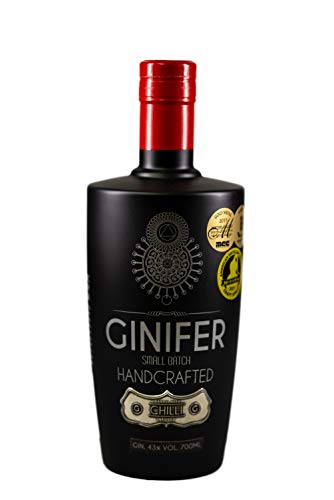Ginifer Chili Gin aus Südafrika Johannesburg/außergewöhnlicher Gin/Craft Gin / 0,7 L Flasche / 43% Vol / [Aromen: Chili/Wacholder/Cassia/Orange ] schöne Schärfe dank 18 Monaten Mazeration