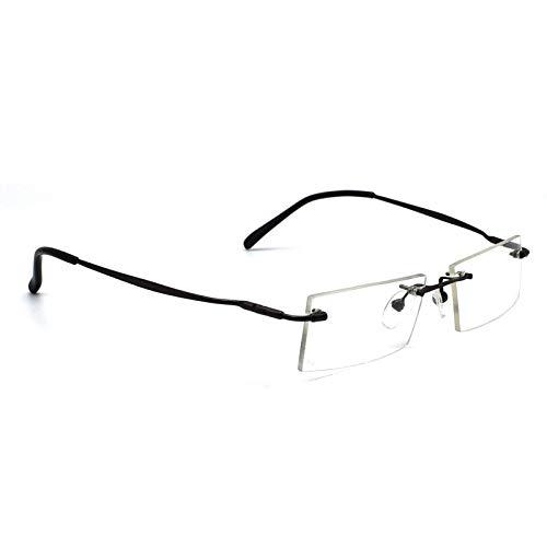 Lensport Eyewear Black Rimless Spectacle Frames For Eyeglasses