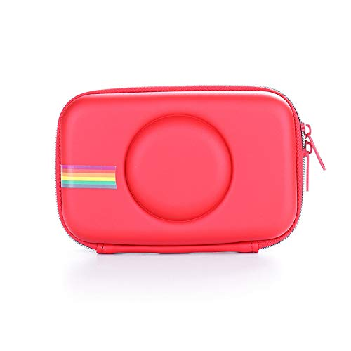 ORETG45 Bolso para cámara Exterior Retro Impermeable cenamiento Colorido Funda Protectora Funda EVA Portátil a Prueba Golpes Moda para Polaroid Snap Touch(Rojo)