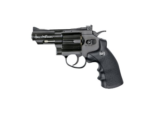 ASG Dan Wesson CO2 Powered Airsoft Revolver, Black, 2.5'