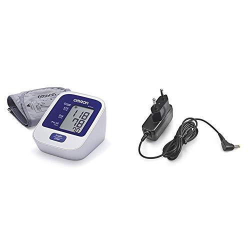 OMRON M2 Basic - Tensiómetro de brazo digital, tecnología Intellisense para dar lecturas de presión arterial rápidas, cómodas y precisas + Adaptador Corriente