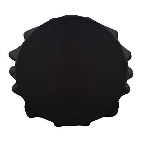 Today 256312 Nappe Ronde Polyester Réglisse/Noir 180 x 180 cm