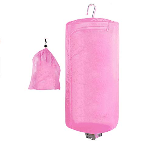 AIPZDJ Concise Home Portable Electric Clothes Dryer 450W Capacity 5kg Stainless Steel Indoor Travel Mini Dryer for Home Dorms,Pink