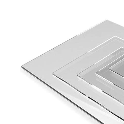 Plaque Plexiglas Transparent Polycarbonate - 80 x 60 cm - Épaisseur 1 mm - Plexi Transparent - Feuille Plastique Rigide -Verre Acrylique Transparent - PMMA XT - Panneau Protection Plastique